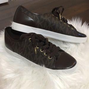 Michel Kors signature city sneaker brown & gold 10